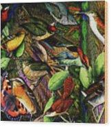 Birdland Wood Print by Joseph Mosley