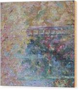 Birds Boaters And Bridges Of Barton Springs - Autumn Colors Pedestrian Bridge Wood Print
