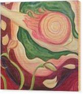 Bird's Eye Dancer Wood Print