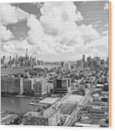 Bird's Eye View Hoboken Nj Wood Print