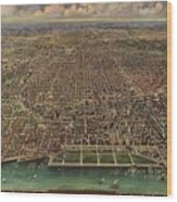 Birds Eye View Of Chicago 1916 Wood Print