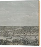Birds-eye View Of Pittsburgh Wood Print by Everett
