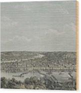Birds-eye View Of Pittsburgh Wood Print
