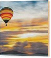 Birds Eye View Of Sunset Wood Print
