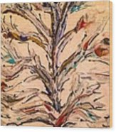 Birds In A Tree Wood Print
