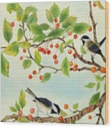 Birds In Autumn Season II Wood Print