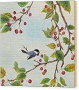 Birds In Autumn Season Wood Print