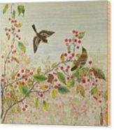 Birds In Autumn Wood Print
