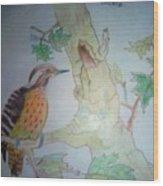 Bird's Life Wood Print