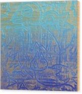 Birds Of Blue Wood Print