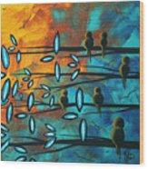 Birds Of Summer By Madart Wood Print