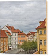 Birds Over Prague Wood Print