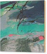 Birds Over The Sea Wood Print