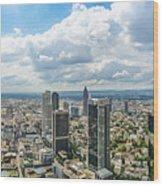 Birdview Of Frankfurt Am Main Wood Print