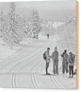 Birkebeiner Ski Trail Wood Print
