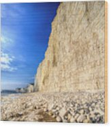 Birling Gap And Seven Sisters Wood Print