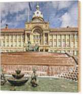 Birmingham City  Town Hall  Wood Print