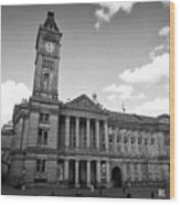 Birmingham Museum And Art Gallery With Clock Tower On Chamberlain Square Uk Wood Print