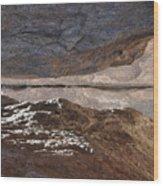 Birth In Stone Wood Print