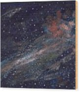 Birth Of A Galaxy Wood Print by Elizabeth Lane