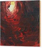 Birth Abstract Art Wood Print