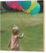 Birthday Balloons Wood Print