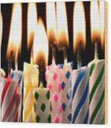 Birthday Candles Wood Print