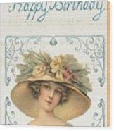 Birthday Lady Wood Print
