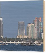 Biscayne Bay At Miami Yatch Club Wood Print