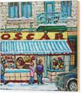 Biscuiterie Oscar Rue Ontario Wood Print