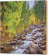 Bishop Creek In Autumn Wood Print