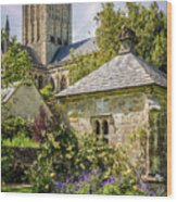 Bishops Palace Gardens - Wells England Wood Print