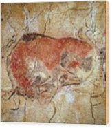 Bison From The Altamira Caves Wood Print by Prehistoric