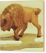 Bison  Wood Print by Russell Ellingsworth