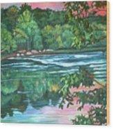 Bisset Park Rapids Wood Print