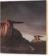 Bisti Badlands, New Mexico, Usa Wood Print