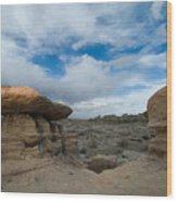 Bisti Fissure New Mexico Wood Print