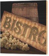 Bistro Still Life IIi Wood Print
