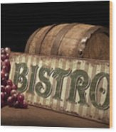 Bistro Still Life Iv Wood Print by Tom Mc Nemar