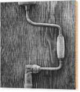 Bit Brace R Bw Wood Print