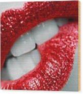 Bit Lip Wood Print