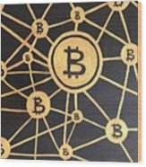 Bitcoin Wood Print
