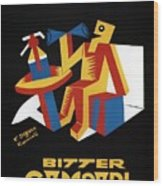 Bitter Campari - Aperitivo - Vintage Beer Advertising Poster Wood Print