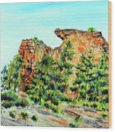 Bitterroot Cliffs Wood Print