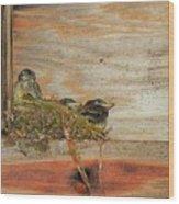 Bitty Birds Wood Print