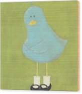 Bitty Bird's New Shoes Nursery Art Wood Print