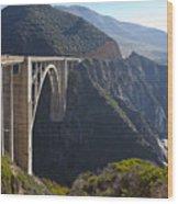 Bixby Bridge Crossing A Chasm Wood Print by David Buffington
