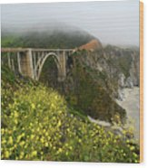 Bixby Bridge Wood Print by Harry Spitz
