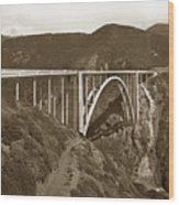 Bixby Creek Aka Rainbow Bridge Bridge Big Sur Photo  1937 Wood Print