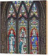 Black Abbey Window - Kilkenny - Ireland Wood Print